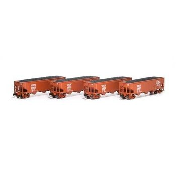 Athearn N Milwaukee 3 bay Offset Hopper 4 Pack # ATH5116