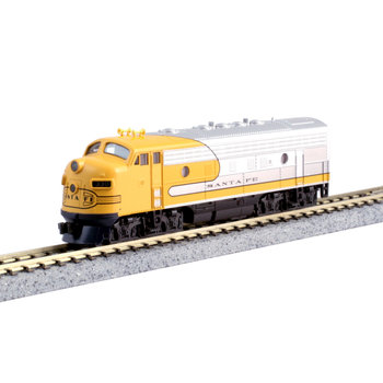 Kato Trains Kato N scale Dc Santa Fe Yellow # 300 F7A  # 176-2140