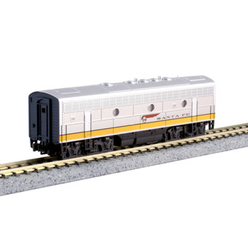 "Kato Trains Kato N Scale Santa Fe F7B ""Yellow Bonnet"" #176-2212"
