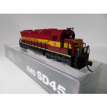 Kato Trains Kato N Wisonsin Central SD-45 Diesel loco # 176-31D