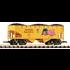 "PIKO G Union Pacific Offset Hopper 27519 ""Flag"" w/Coal Load # 38919"