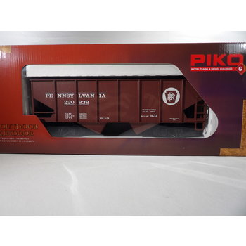PIKO G Pennsylvania RR Rib-Side Hopper 220838 w/Coal Load # 38916