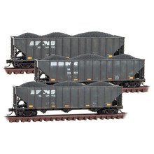 Micro Trains Line N  Norfolk Southern Weathered 3-Pack Coal Hoppers #  993-05-930