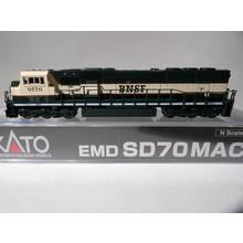 Kato Trains Kato N Scale BNSF SD70MAC #176-6301