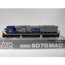 Kato Trains Kato N Scale CSX road # 701 SD70 MAC #176-6307