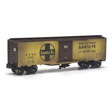Menards Menards O Gold Line Santa Fe weathered Boxcar # 279-4412