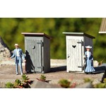 PIKO G Outhouse 2-Pack Built-Up # 62719 TOTE1