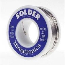 Miniatronics Miniatronics 60/40 Rosin Core Solder -- 4oz 113g  # 1064004