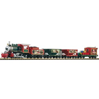 Piko G Christmas Freight Starter Set w/Analog Sound & Smoke Set # 38122