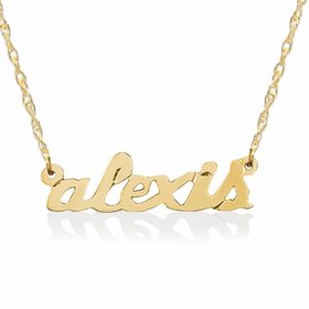 14kt Gold Petite Name Necklace