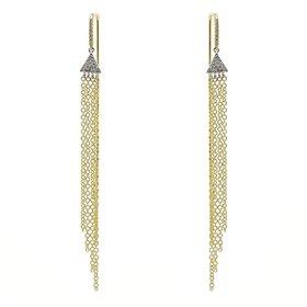 14kt Gold Chandelier Diamond Chain Earrings