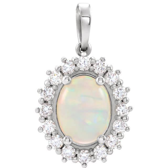 86925 Opal & Diamond Pendant