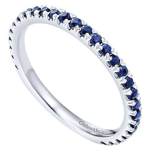 Gabriel & Co LR50889 thin sapphire stackable band