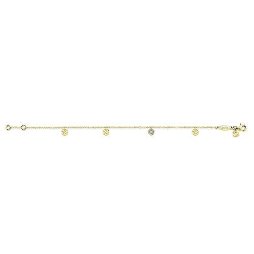 Gabriel & Co TB3961 Yellow Gold Chain Bracelet with Accents