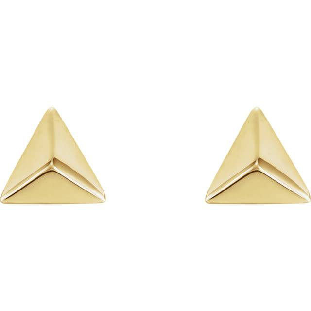 Stuller 14kt Gold Pyramid Earrings
