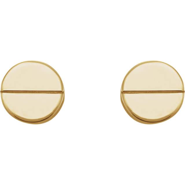 14kt Gold Circle Earrings
