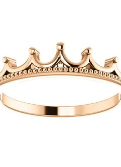 14kt gold stackable crown ring