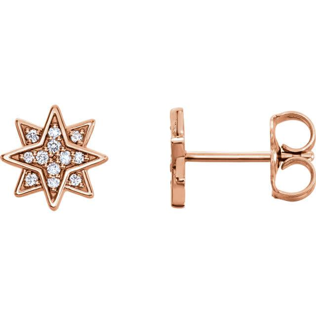 Stuller Diamond Star Earrings