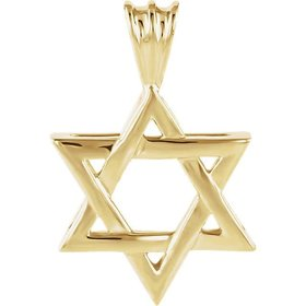 14kt yellow gold star of david pendant
