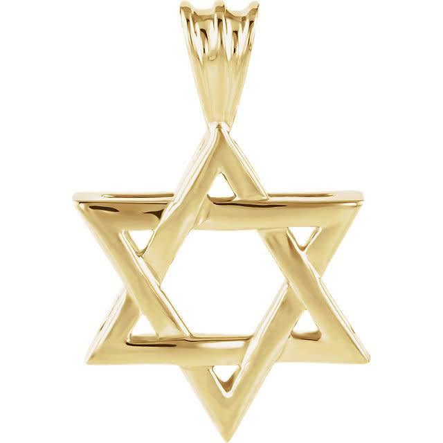 Stuller 14kt yellow gold star of david pendant