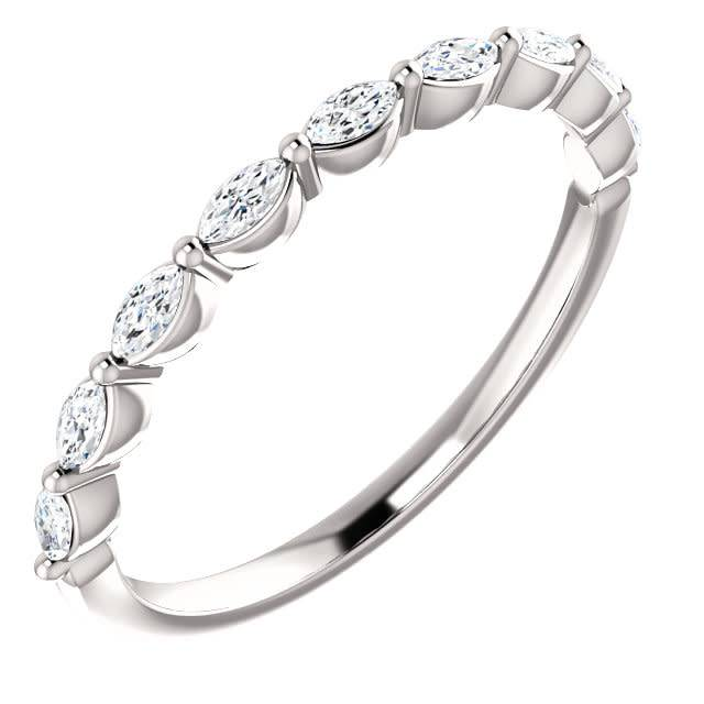 Marquise diamond band 1/3 carat total