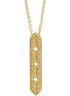 Vintage Inspired Vertical Bar Necklace