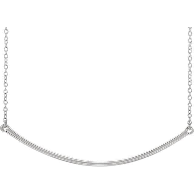 "86049 diamond bar necklace 19.9"" and 48mm bar"