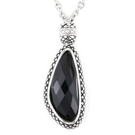 ACN112 Black Onyx Drop Necklace