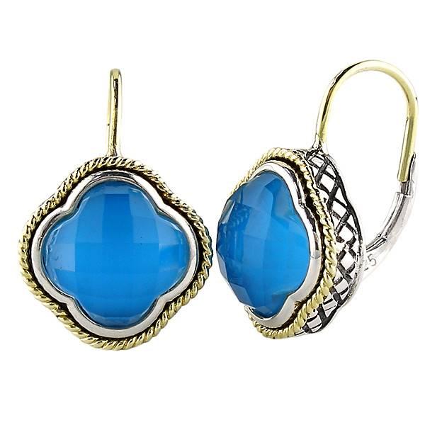 Andrea Candela Andrea Candela Turquoise Clover Earrings