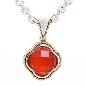 Andrea Candela Red Agate Clover Pendant