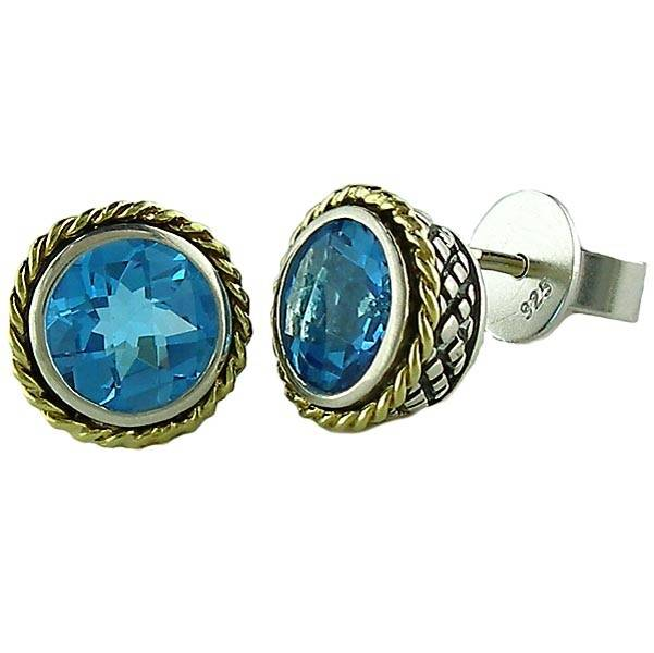 Andrea Candela  ACE84-BT blue topaz stud earrings