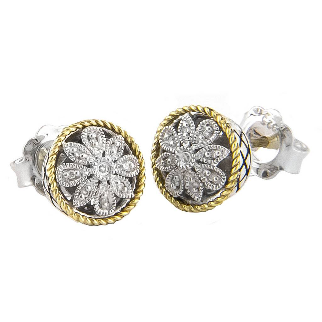 Andrea Candela ACE91 diamond flower earrings