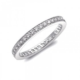WC0889 milgrain diamond wedding band
