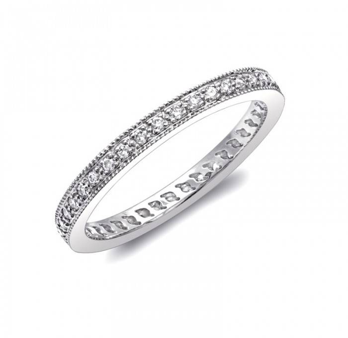 Coast WC0889 milgrain diamond wedding band