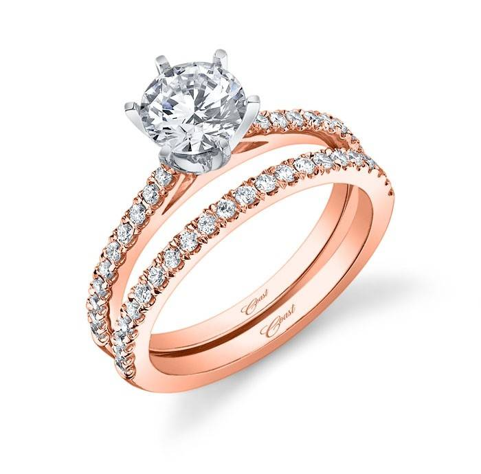 Coast LC5250 Rose Gold Prong Setting