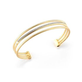 BIR356Y 14kt yellow gold multi row diamond bracelet