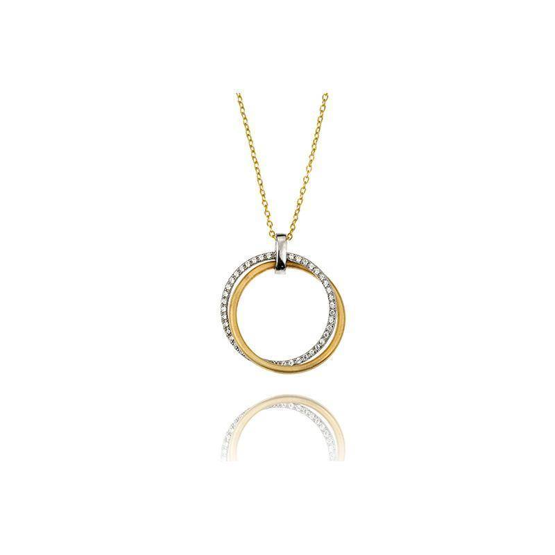 "I. Reiss IR3437Y ""Circle of Love"" Pendant Necklace"