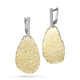 ER3036Y hammered drop earrings