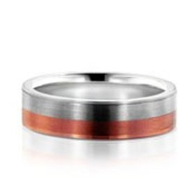 NT10060 Contemporary Two-Toned Wedding Band