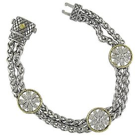 Andrea Candela Diamond Flower Station Bracelet