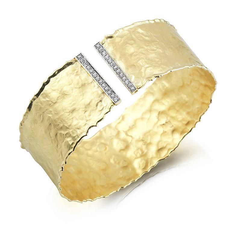 BIR295 Yellow Gold Cuff Bracelet
