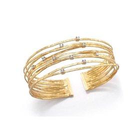 BIR318Y Multi Strand Cuff Bracelet