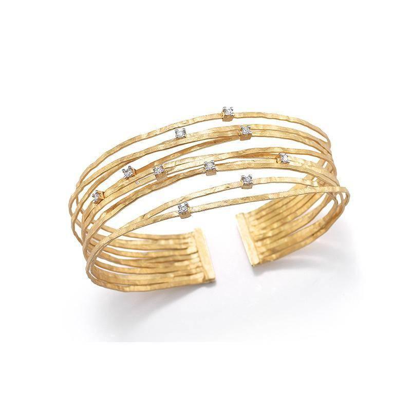 I. Reiss BIR318Y Multi Strand Cuff Bracelet