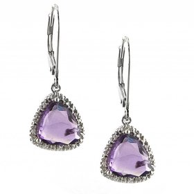 E0539AM amethyst dangle earrings