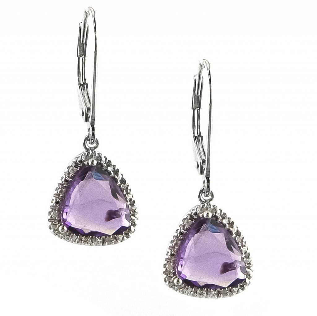 Lau E0539AM amethyst dangle earrings