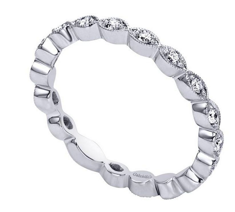 Gabriel LR4794 14kt white gold stackable band