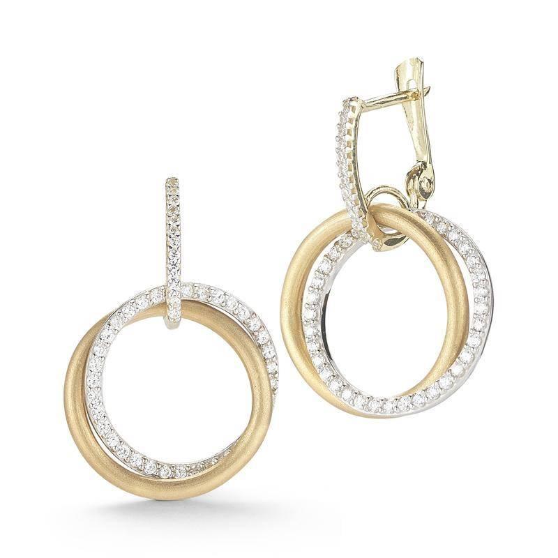 I. Reiss ER3041Y diamond circle earrings
