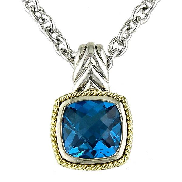 Andrea Candela ACP99-BT Blue Topaz Pendant Necklace