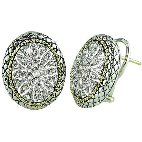 Andrea Candela ACE88 Oval Diamond Earrings