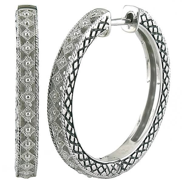 Andrea Candela ACE241 Sterling Silver Hoop Earrings